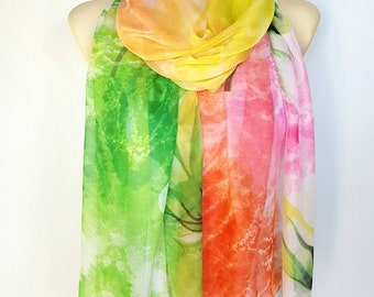 Colorful scarfs for women Silk scarf women Large and long silk scarves for women Handmade womens scarf wrap 16 Best gifts for her birthday