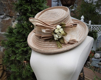 a477644b6fa Vtg Ladies Natural Straw Hat
