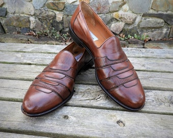be4d4fada6e Vtg Mens Mezlan Brown Leather Caracas Loafers