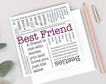 Best Friend Word Cloud Card GC572