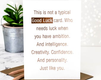 Good Luck Card GC380