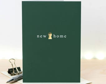 New Home Card; Gold Foiled Housewarming Card; We're Moving Card; GC649