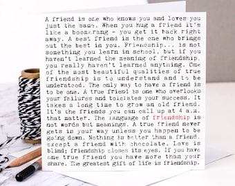 Friendship Card Best Friend Friends Long Distance Birthday For GC157