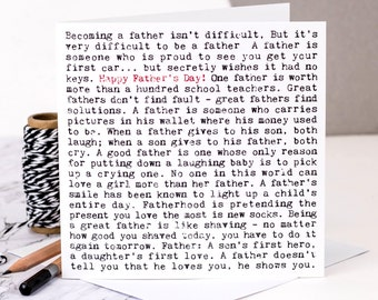 Father's Day Card; Happy Father's Day; Card For Dad; GC261