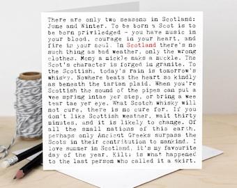 Scotland Birthday Card GC1634