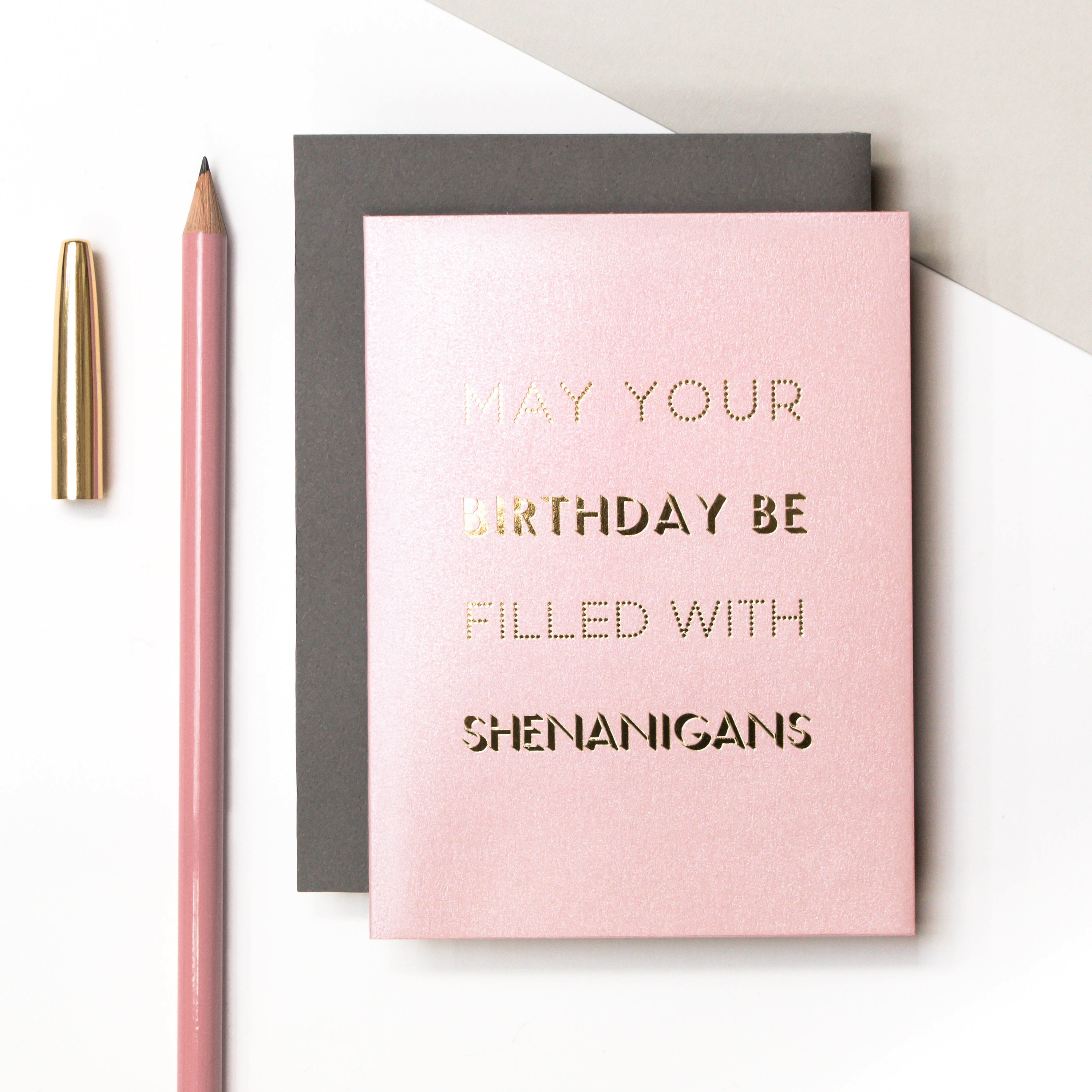 Mini Metallic Gold Foil May Your Birthday Be Filled With