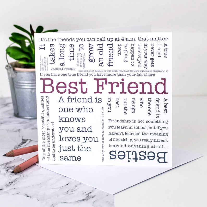 Best Friend Card Birthday