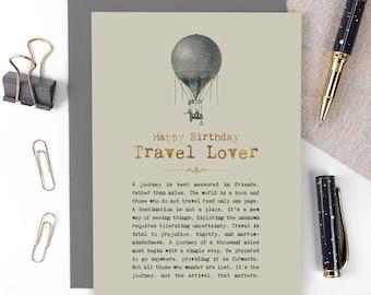 Travel Lover Birthday Card GC1438