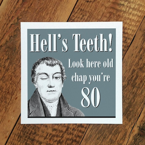 80th Birthday Card For Men 80th Age Card For Men Youre Etsy