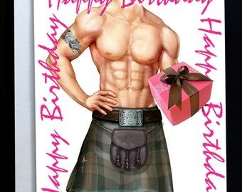 Birthday Package greeting card