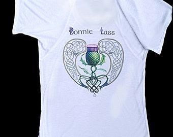 Bonnie Lass Thistle Flowy T