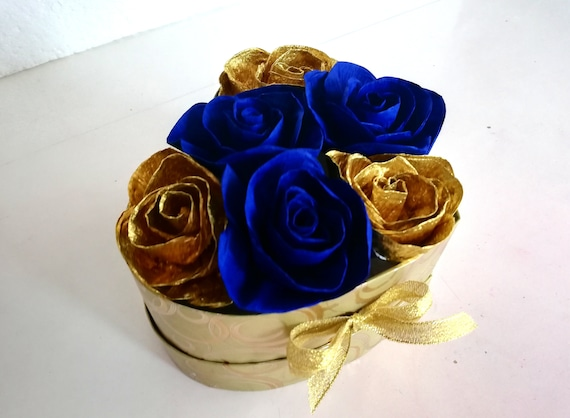 Navy Blue And Gold Decorations  from i.etsystatic.com