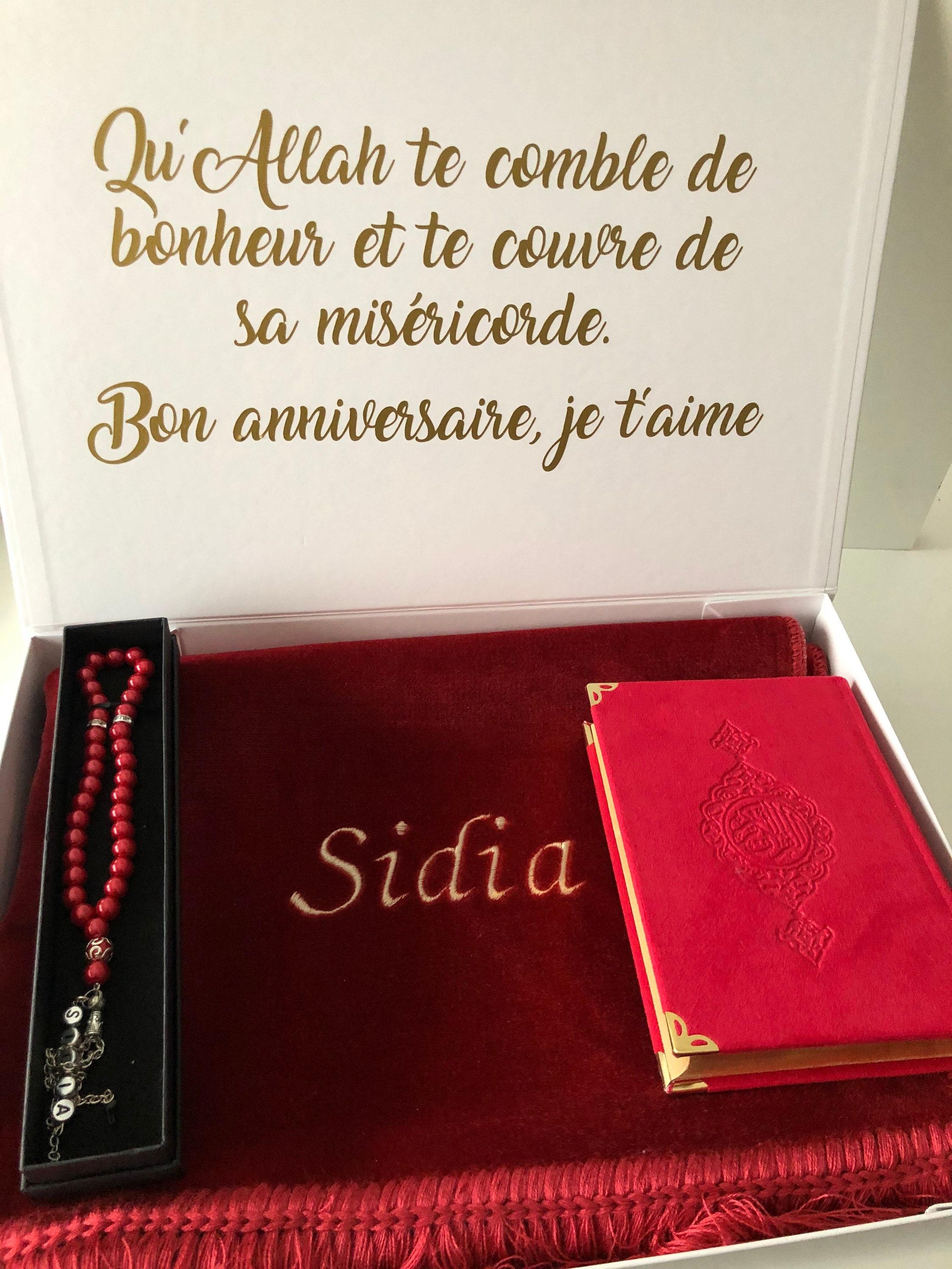 muslim gift set name prayer rug hadj set umrah ramadan  etsy