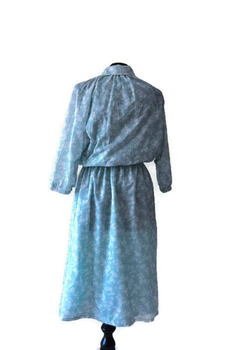 Vintage Green Dress by Butt Knit   Green Shirtwaist Dress in Mint Green  Waist 28