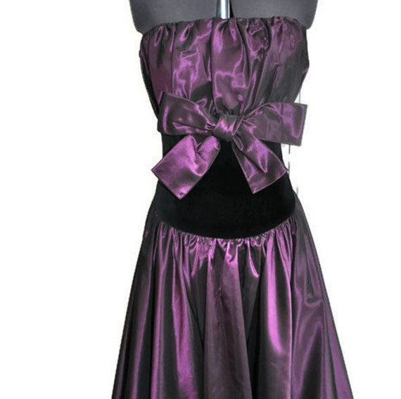 Vintage Roland Klein Purple Evening Dress // Desig