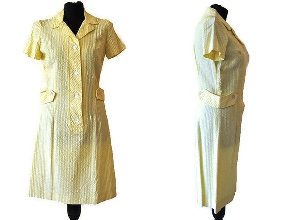 Horrockses Yellow Dress // Vintage 1960s Horrockse