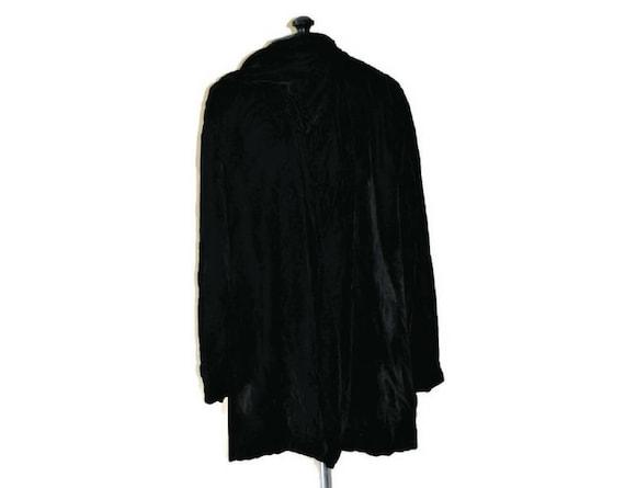 1920's  Black Velvet Jacket // Vintage Soft Velvet