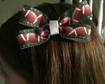 Football Hair Bow