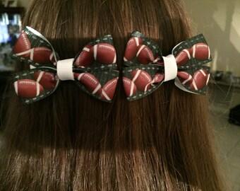 Football Hair Bows