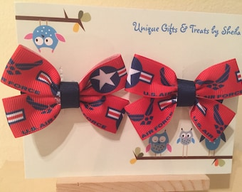 United States Air Force Hair Bows