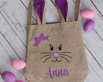 Personalized Easter Basket, Personalized Easter bunny Baskets, Easter, Baskets, Bunny Baskets, Easter Bunny, Easter Bunny Bag, Easter