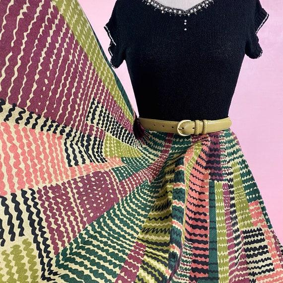 1950s Mid Century Modern Pellon Skirt