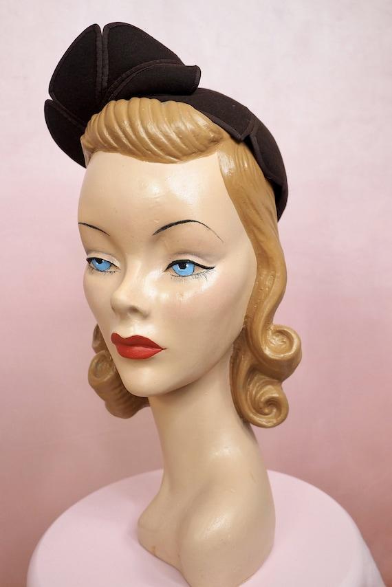 1950s I Magnin Leaf Hat