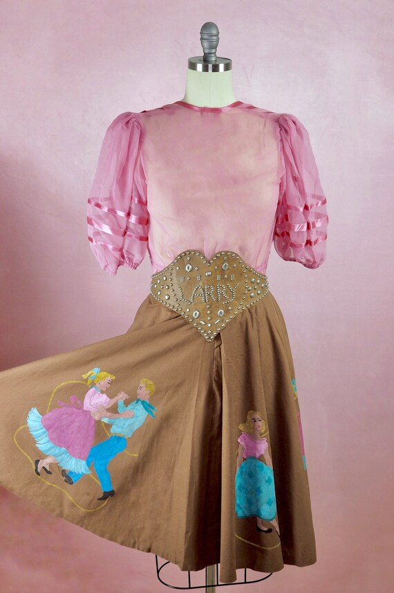 "1950s Western Sweethearts Skirt (30"")"