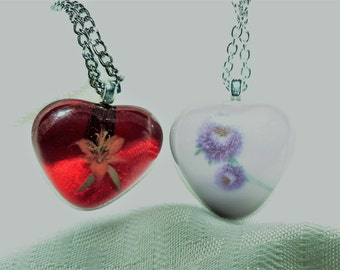 Fused Glass Heart Necklace