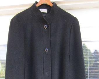 Alorna / Frostmann Heavy 100% Wool Black Cape Coat