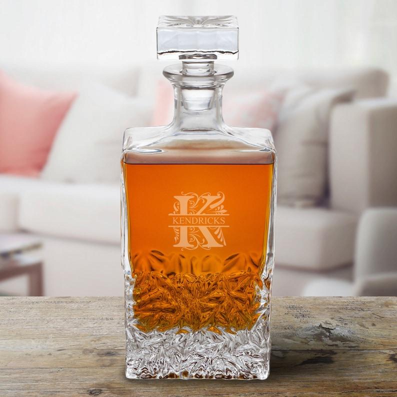 Personalized Rectangular 24 oz. Whiskey Decanter  Best Man image 0