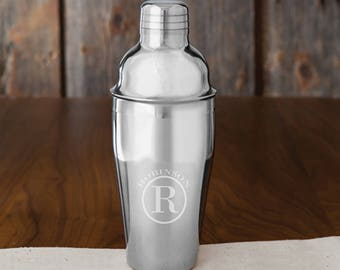Monogrammed Cocktail Shaker - Personalized Cocktail Shaker - Bar Ware Accessories - Man Cave Gifts - Gifts for Him - GC1485