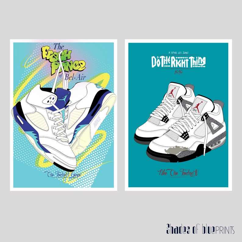 a964b477ffe The Fresh Prince of Bel Air Nike Air Jordan V Grapes print | Etsy