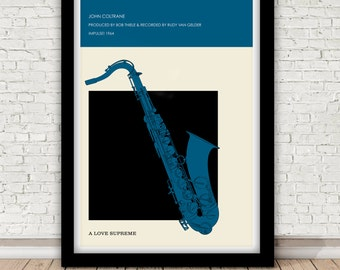 John Coltrane - A Love Supreme - Impulse! 1964 Giclée poster