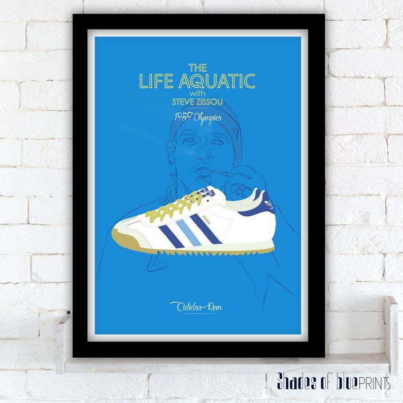 3c98f8920447 The Life Aquatic poster Adidas Rom Zissou Wes