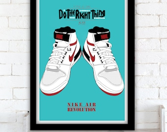 Do the Right Thing / Nike Air Revolution poster - Spike Lee - 1989