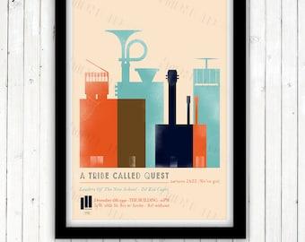 A TRIBE CALLED QUEST - Jazz ( We've got) poster - Giclée  print, 1991