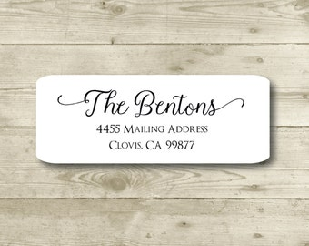 Custom Return Address Label, Personalized, MATTE, Personal, Wedding, Shower