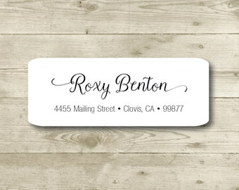 Elegant Cursive, Color Options, Custom Return Address Label, Personalized, All Occasions, Wedding, Shower