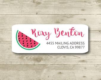 Watermelon, Return Address Label, Personalized, MATTE, Fruit, Tutti Fruity