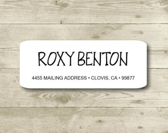 All Occasions, Return Address Label, Personalized, MATTE, Personal, Wedding, Shower