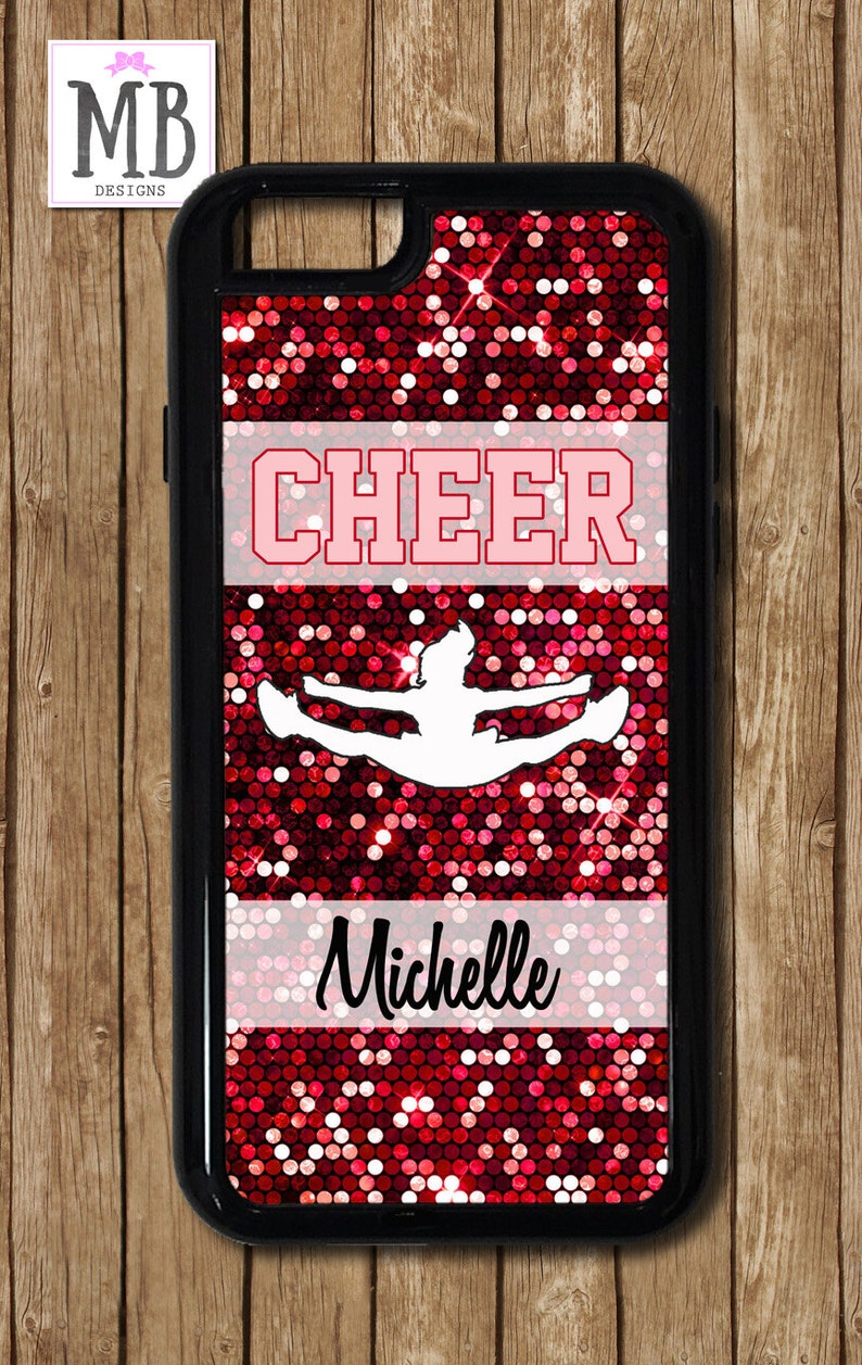 new style 3a2db adc7d Cheer iPhone Case, Cheerleading iPhone, Glitter Cheer iPhone 8 Case, cheer  mom, cheer gift, dance gift, iphone 7 case, iphone 6 plus case