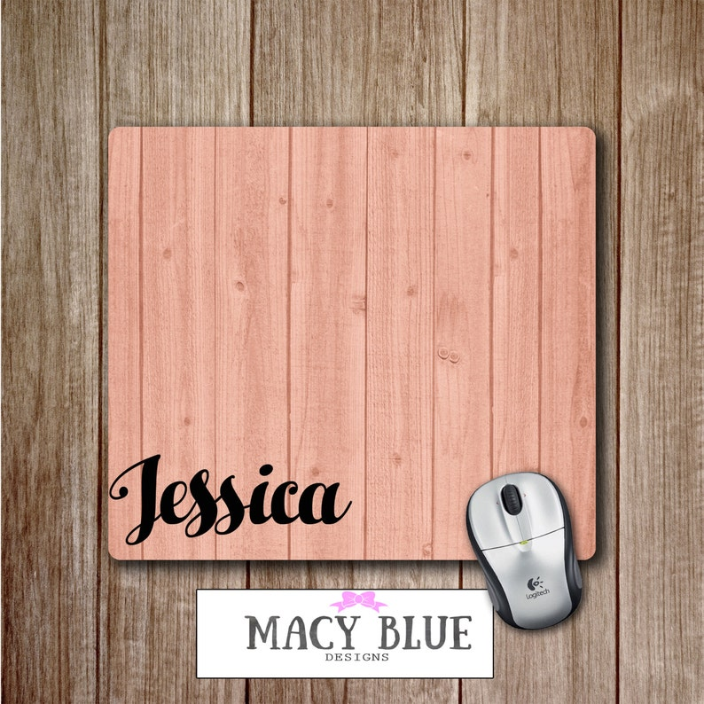 Pink Wood Grain Printed on Mouse Pad, Office Accessories, Desk Accessories,  Teacher Gifts, Gift for Him, Gift for Teacher