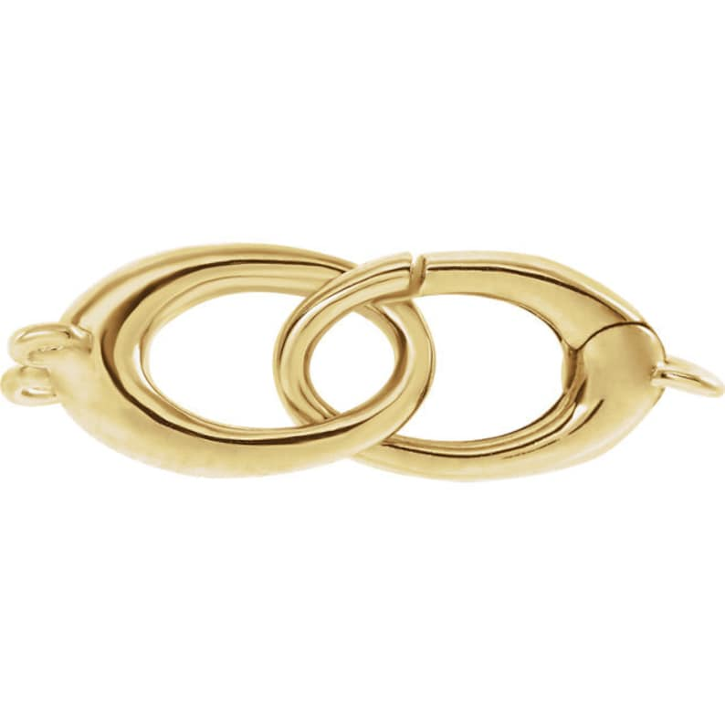 14k Yellow White Rose Gold 27mmx8.5mm OD Double Triggerless Lobster Clasp Ring Pendant Hangers Charm Bails Bracelet Anklet Jewelry Findings