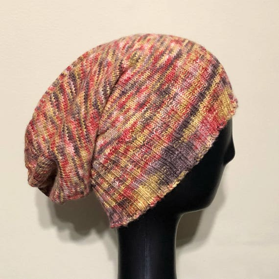 Hand Knit Slouchy Sockhead Hat  0488db4d0de