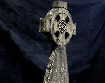 Celtic Cross Halloween Tombstone Cemetery Prop Graveyard Decoration Vampire Mummy Graveyard Costume Zombie