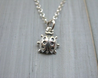 925 Sterling Silver Ladybug Necklace Teen Jewelry Tween Jewelry Ladybug Jewelry Ladybug Gift Teen Gift Tween Gift