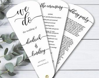 Petal Fan Programs Custom Initial Wedding Program Elegant Watercolor Watercolor Fan Programs Elegant Wedding Program Fans