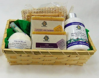 Goat Soap Gift Basket Delivery Unique Holiday Baskets Thank You Birthday