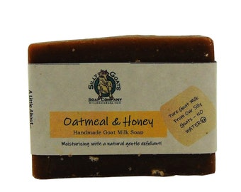 Goat Milk Oatmeal & Honey Soap, Honey Soap, Oatmeal Soap Bar, Oatmeal Bar Soap, Oatmeal And Honey Soap, Honey Oatmeal Soap, oat soap, soap